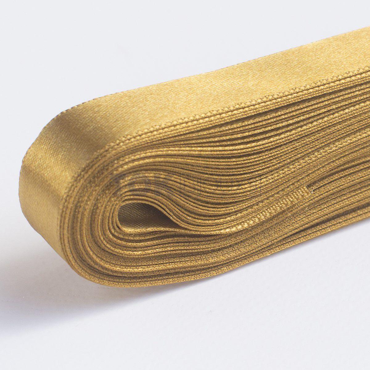 Fita Cetim N.3 - 15mm - 10 Metros - COR (47) Dourado