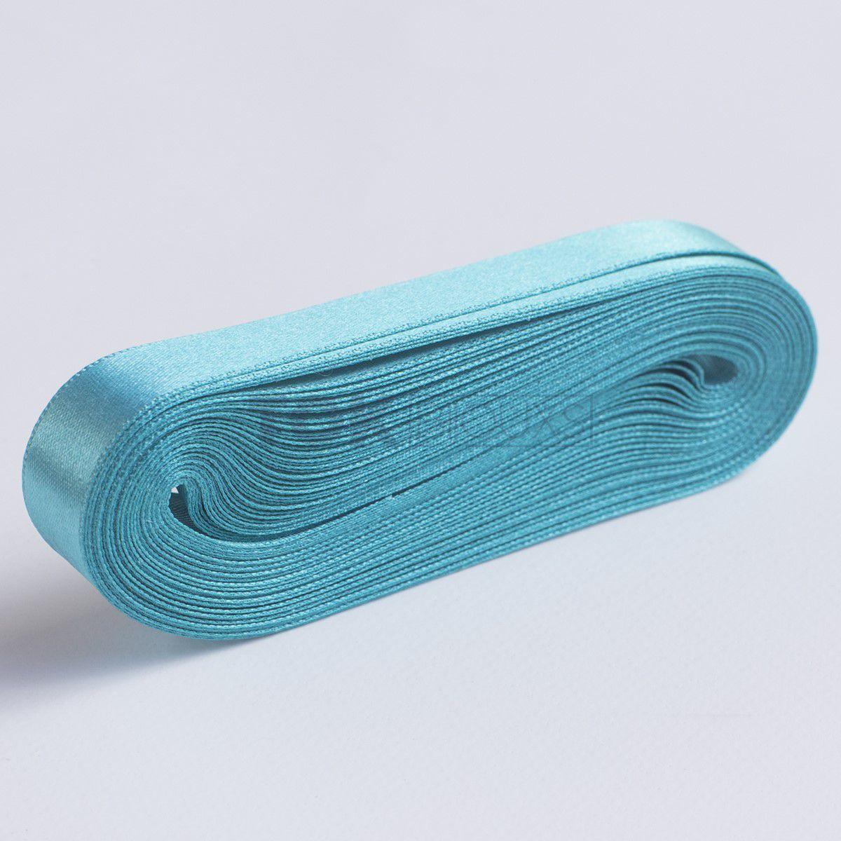 Fita Cetim N.3 - 15mm - 10 Metros - COR (61) Azul Piscina