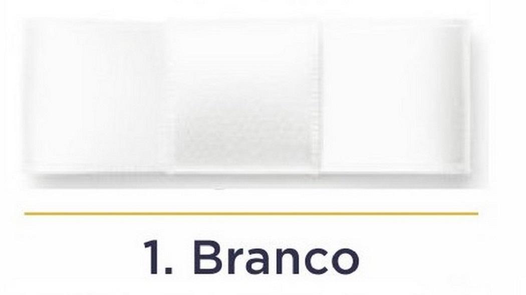 Fita Cetim N.3 - 15mm - 50 Metros - COR (1) Branco