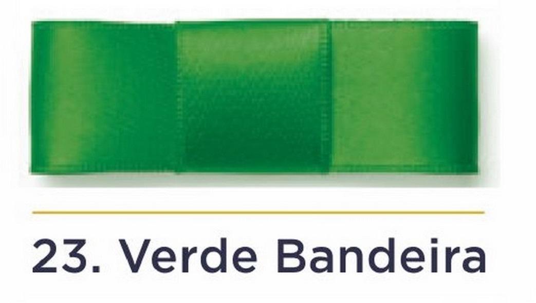 Fita Cetim N.3 - 15mm - 50 Metros - COR (23) Verde Bandeira
