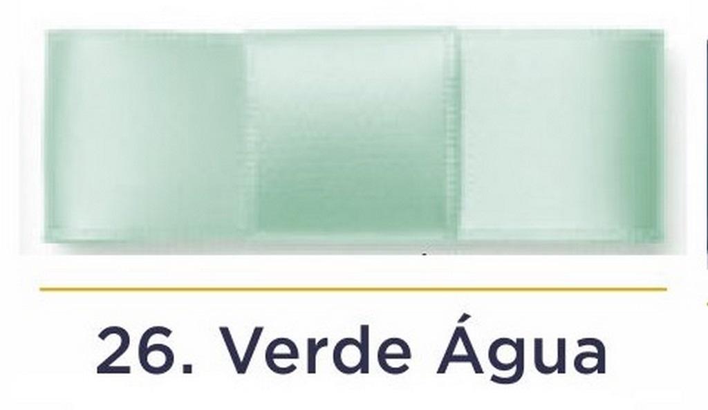 Fita Cetim N.3 - 15mm - 50 Metros - COR (26) Verde Água