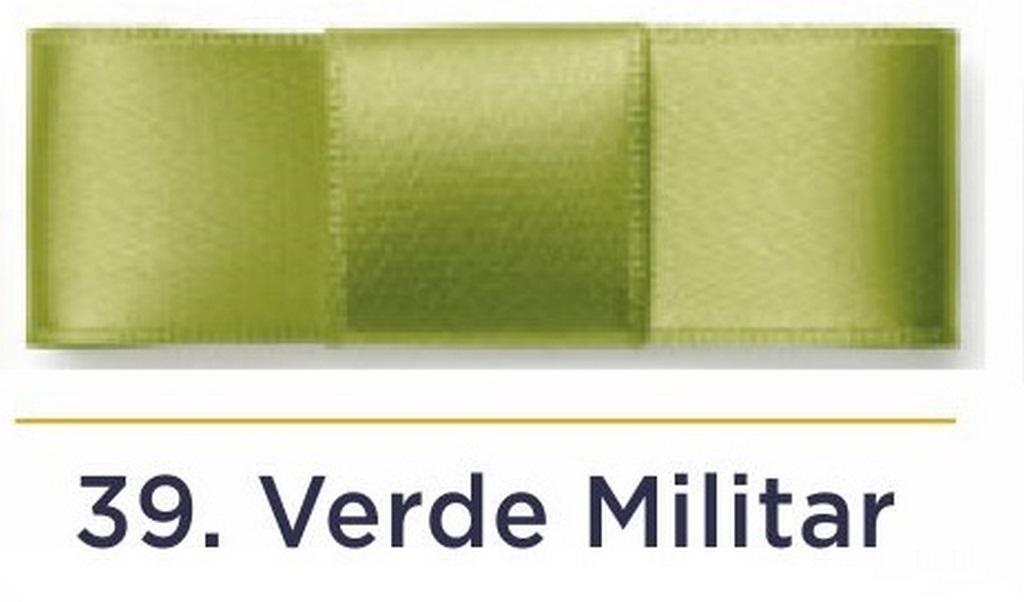 Fita Cetim N.3 - 15mm - 50 Metros - COR (39) Verde Militar