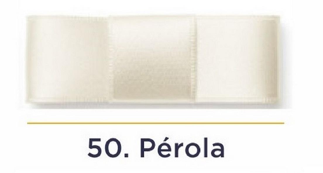 Fita Cetim N.3 - 15mm - 50 Metros - COR (50) Pérola