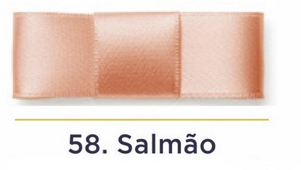 Fita Cetim N.3 - 15mm - 50 Metros - COR (58) Salmão