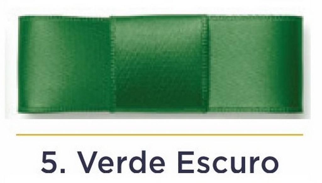 Fita Cetim N.3 - 15mm - 50 Metros - COR (5) Verde Escuro
