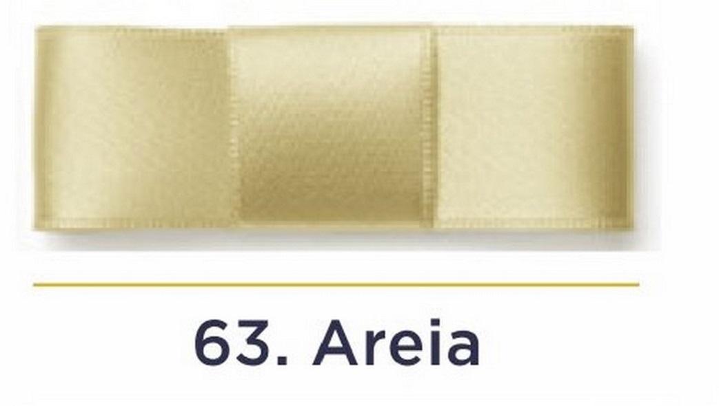 Fita Cetim N.3 - 15mm - 50 Metros - COR (63) Areia