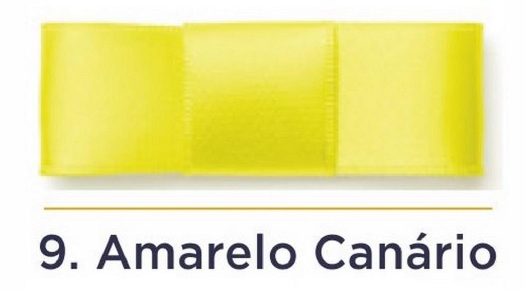 Fita Cetim N.3 - 15mm - 50 Metros - COR (9) Amarelo Canário