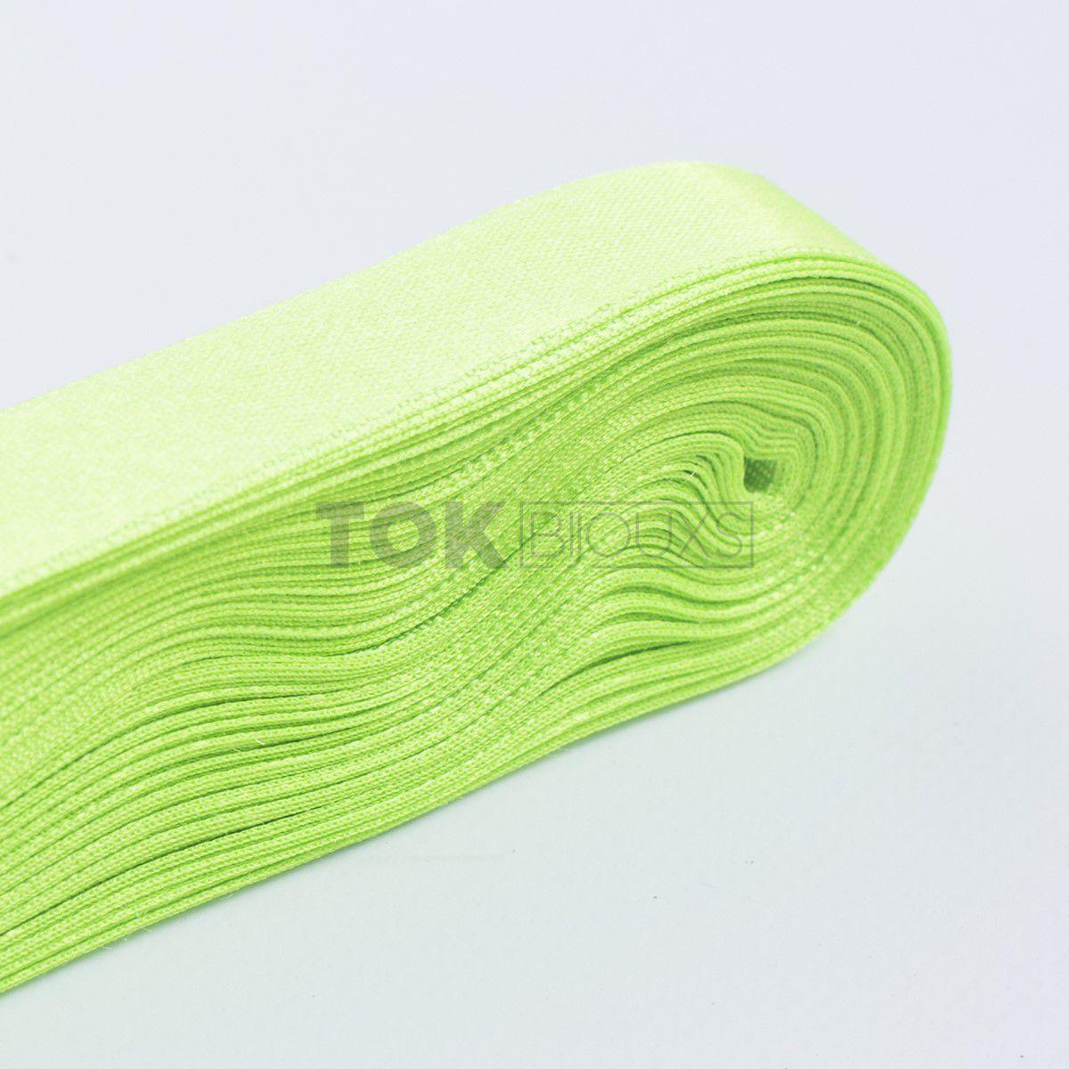 Fita Cetim N.5 - 22mm - 10 Metros - COR (59) Verde Limão