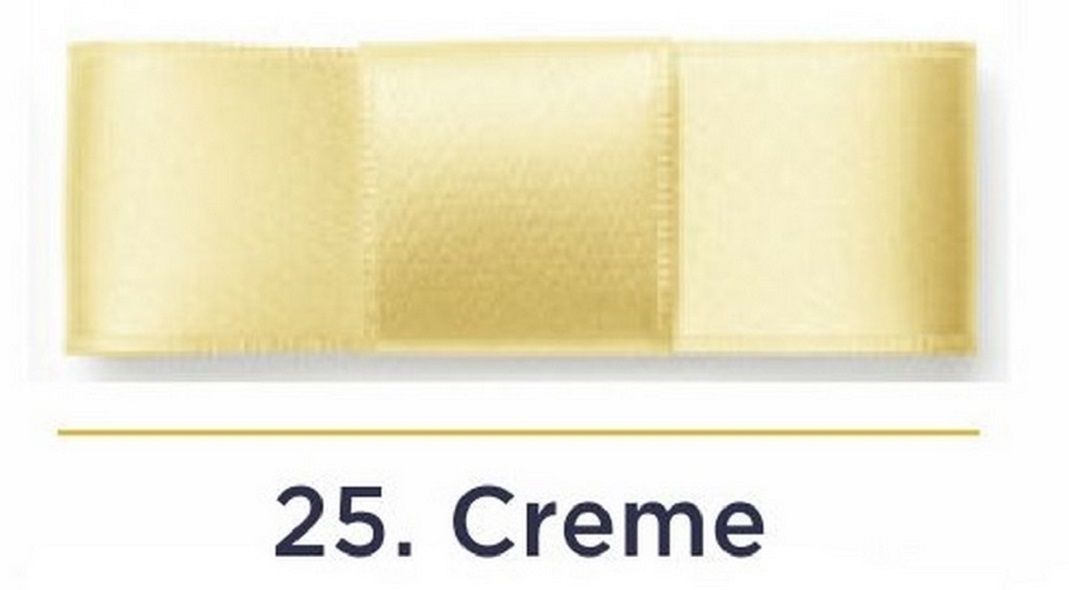 Fita Cetim N.5 - 22mm - 50 Metros - COR (25) Creme