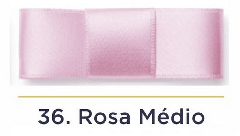 Fita Cetim N.5 - 22mm - 50 Metros - COR (36) Rosa Médio