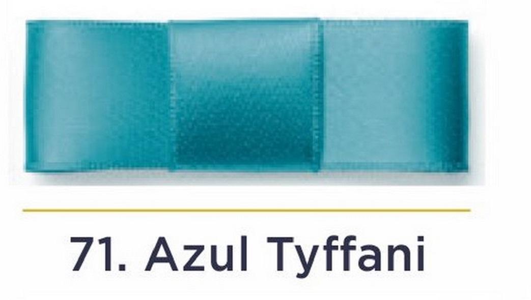 Fita Cetim N.5 - 22mm - 50 Metros - COR (71) Azul Tiffany