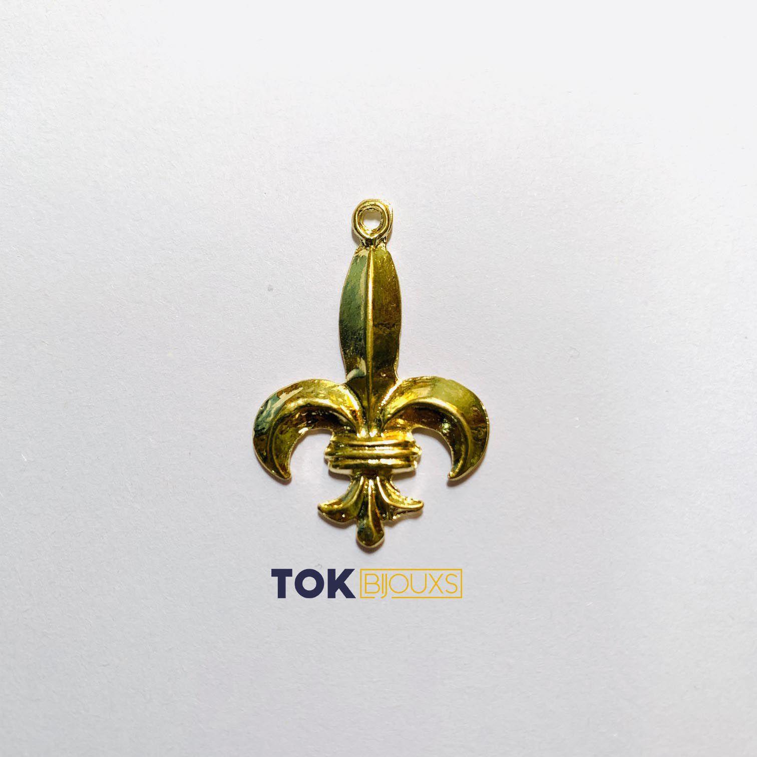 Flor De Lis - Dourado - 1 Unid