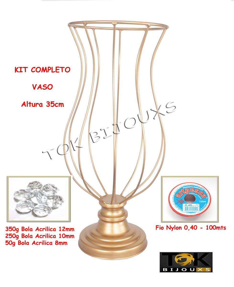 Kit Montagem - Vaso 35cm Vaso Pedraria - Acrílicos