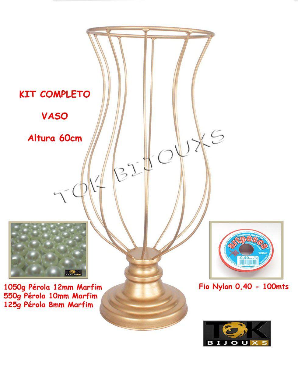 Kit Montagem - Vaso 60cm Vaso Pedraria - Pérolas