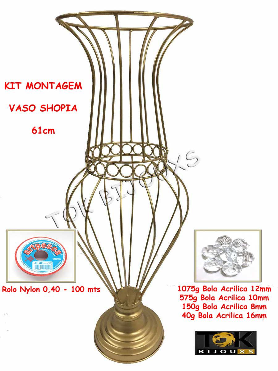 Kit Montagem - Vaso Sophia 60cm Vaso Pedraria - Acrílicos