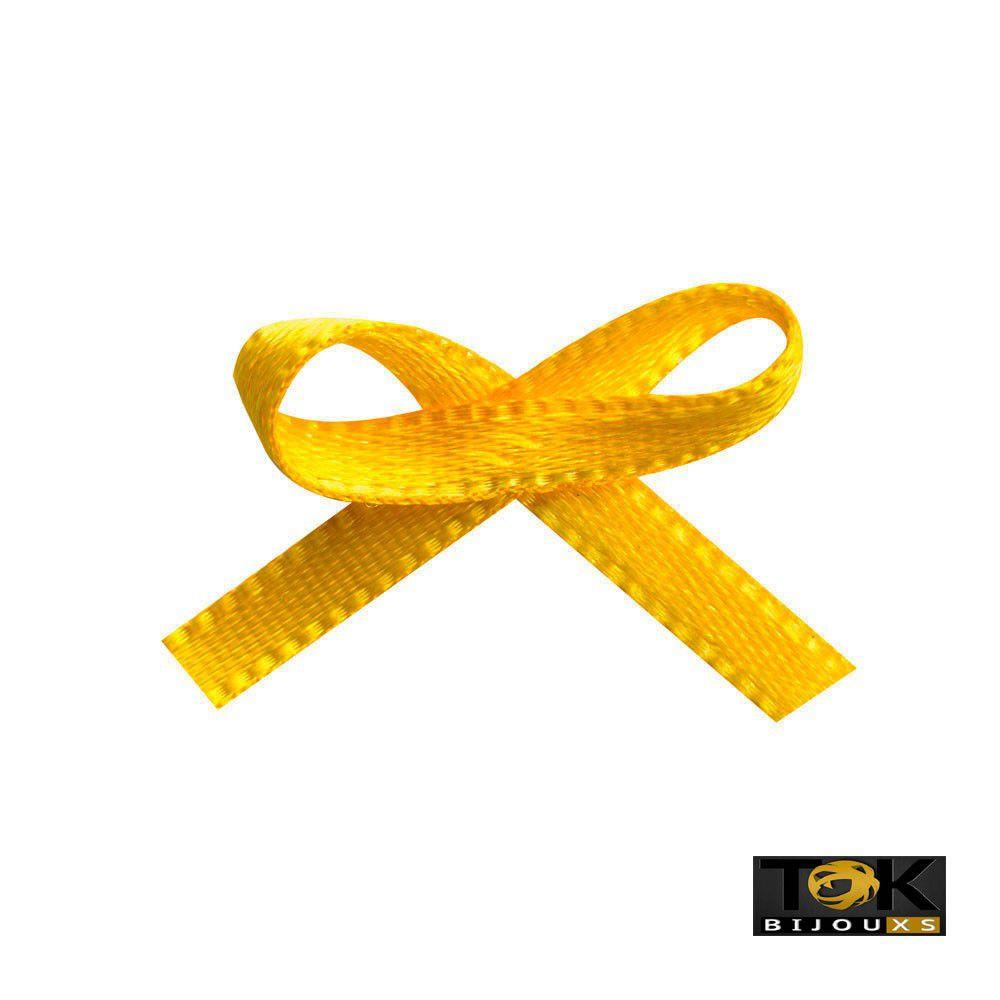 Laçinho Cetim N.0 - Amarelo - 100 Unid