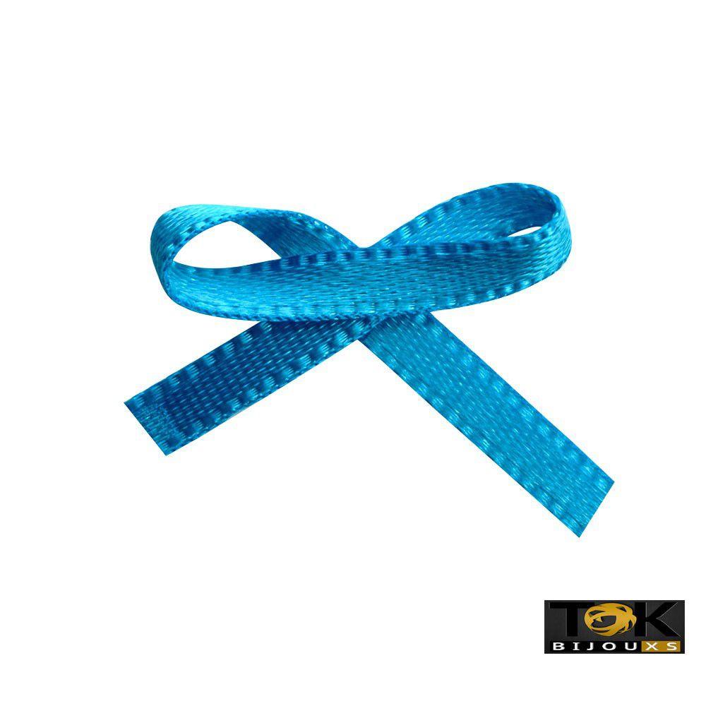 Laçinho Cetim N.0 - Azul Turquesa - 100 Unid