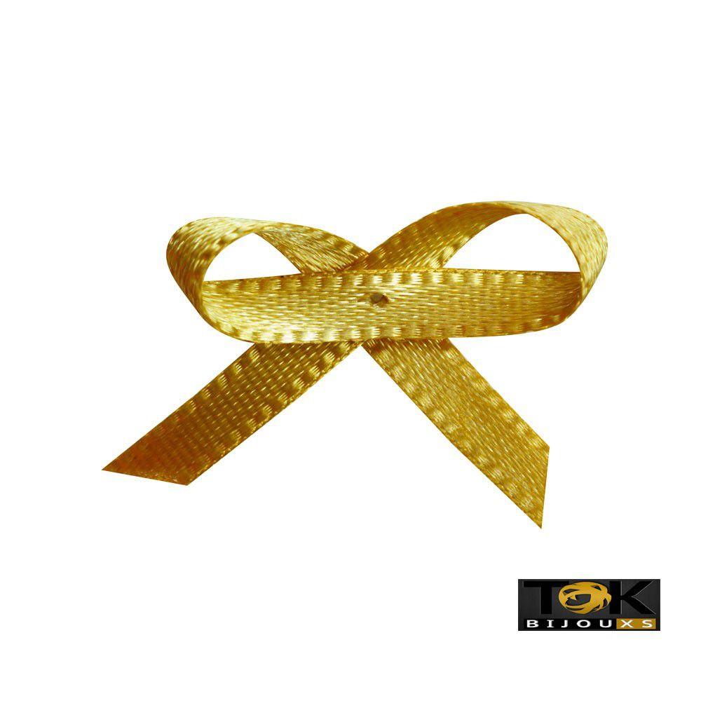 Laçinho Cetim N.0 - Dourado - 100 Unid