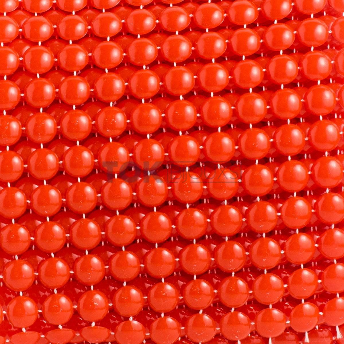 Manta Meia Pérola Abs - 8mm - Vermelho - 9,14 Metros