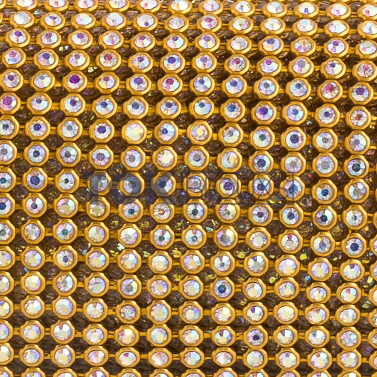 Manta Strass SS10 - Dourado Boreal - 10cm X 45cm