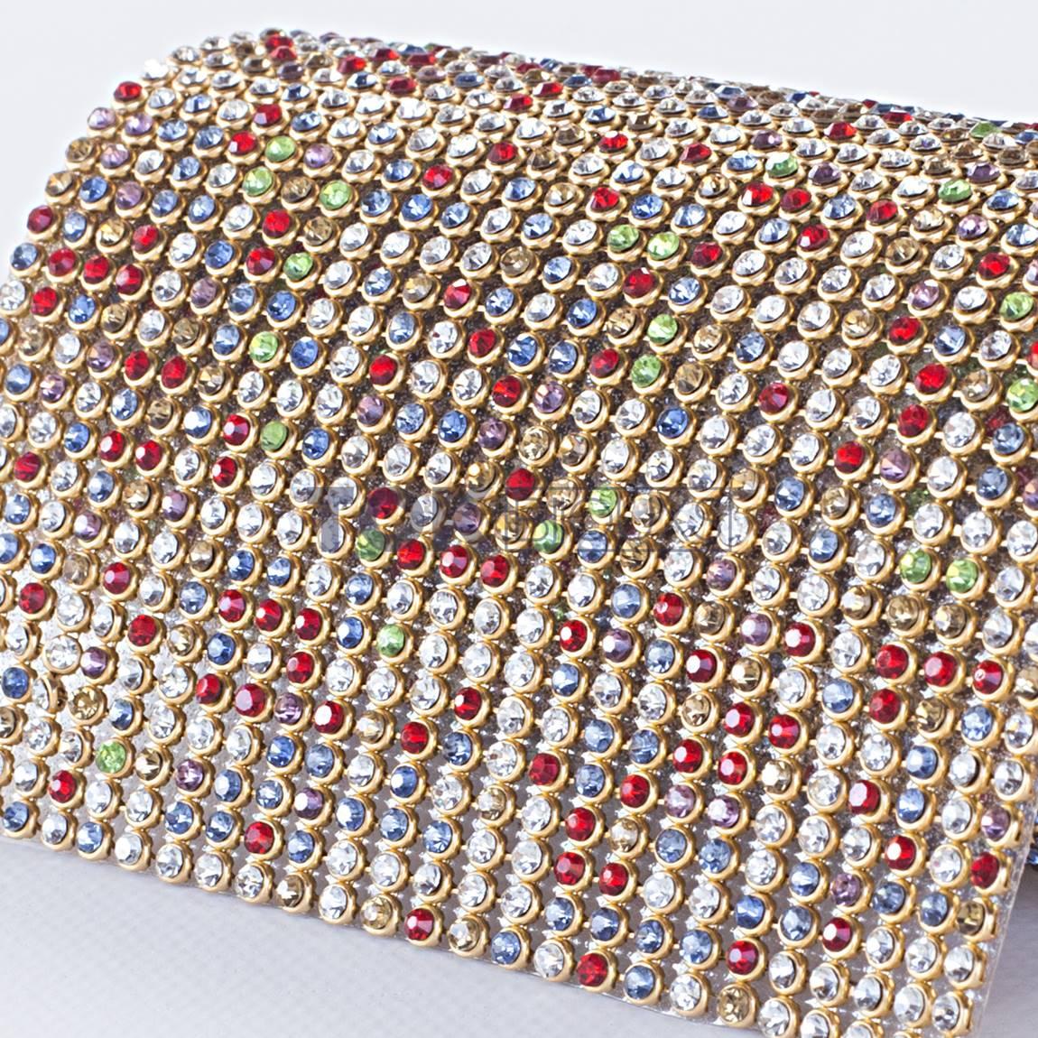 Manta Strass SS10 - Dourado Colorido - 10cm X 45cm