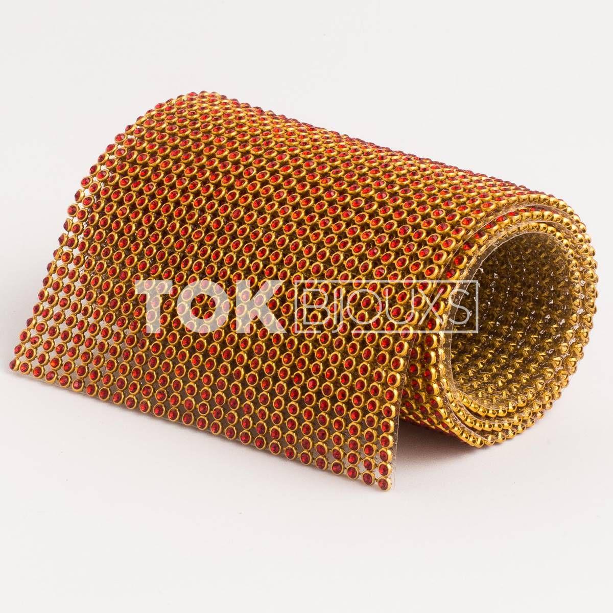 Manta Strass SS10 - Vermelho - 10cm X 45cm