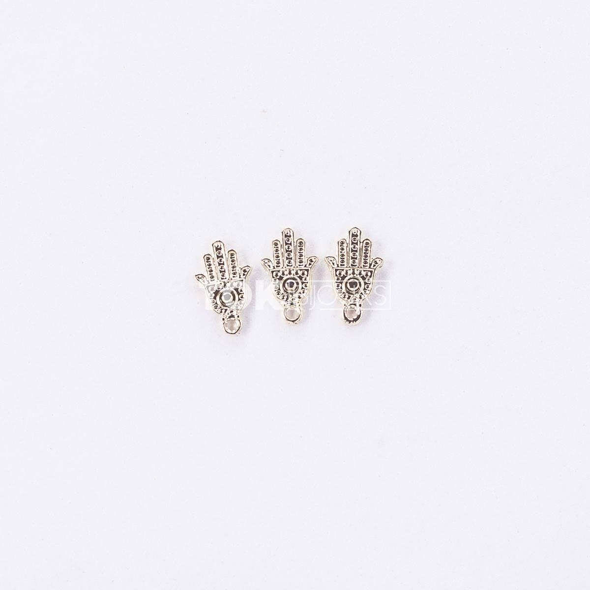 Mão De Fátima II - Dourado - 10 Unid