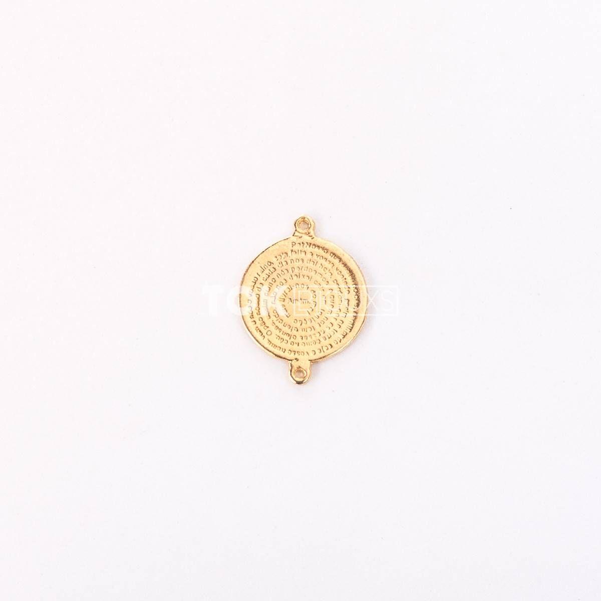 Medalha 10 Mandamentos - Dourado - 1 Unid