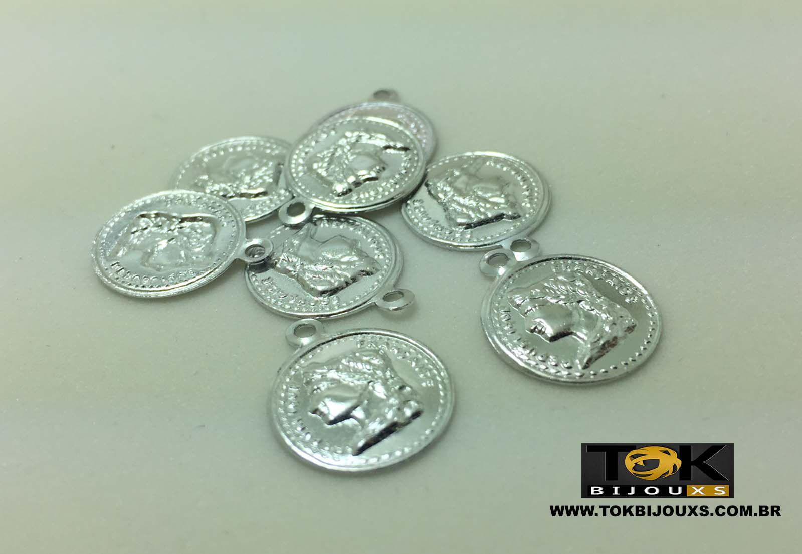 Medalha Pequena Monalisa - 15mm - Prata - 50 Unid