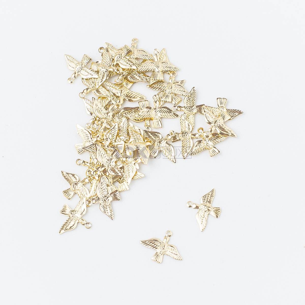 Pingente - Divino Espirito Santo - Dourado - 50 unid