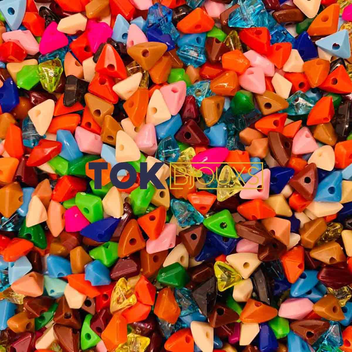 Miçangas Sortidas - Cascalho - 10x6mm - Colorido - 250g