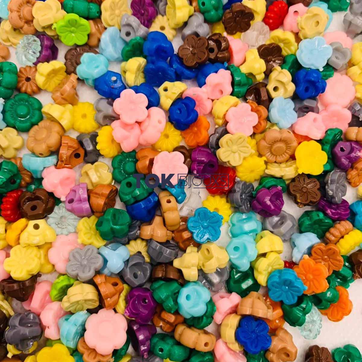 Miçangas Sortidas - Florzinha - Colorido - 250g