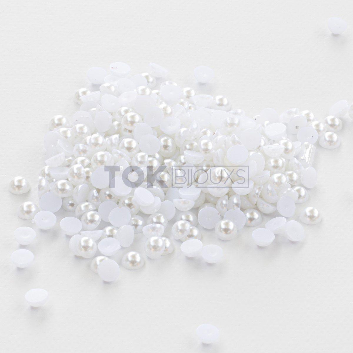 Micro Meia Pérola Abs 3mm - Branco - 25g
