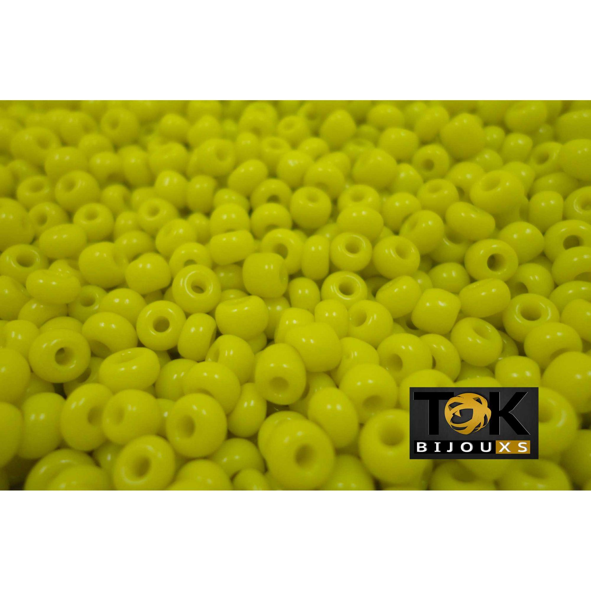 Missangão Amarelo Opaco 6/0 - 50g