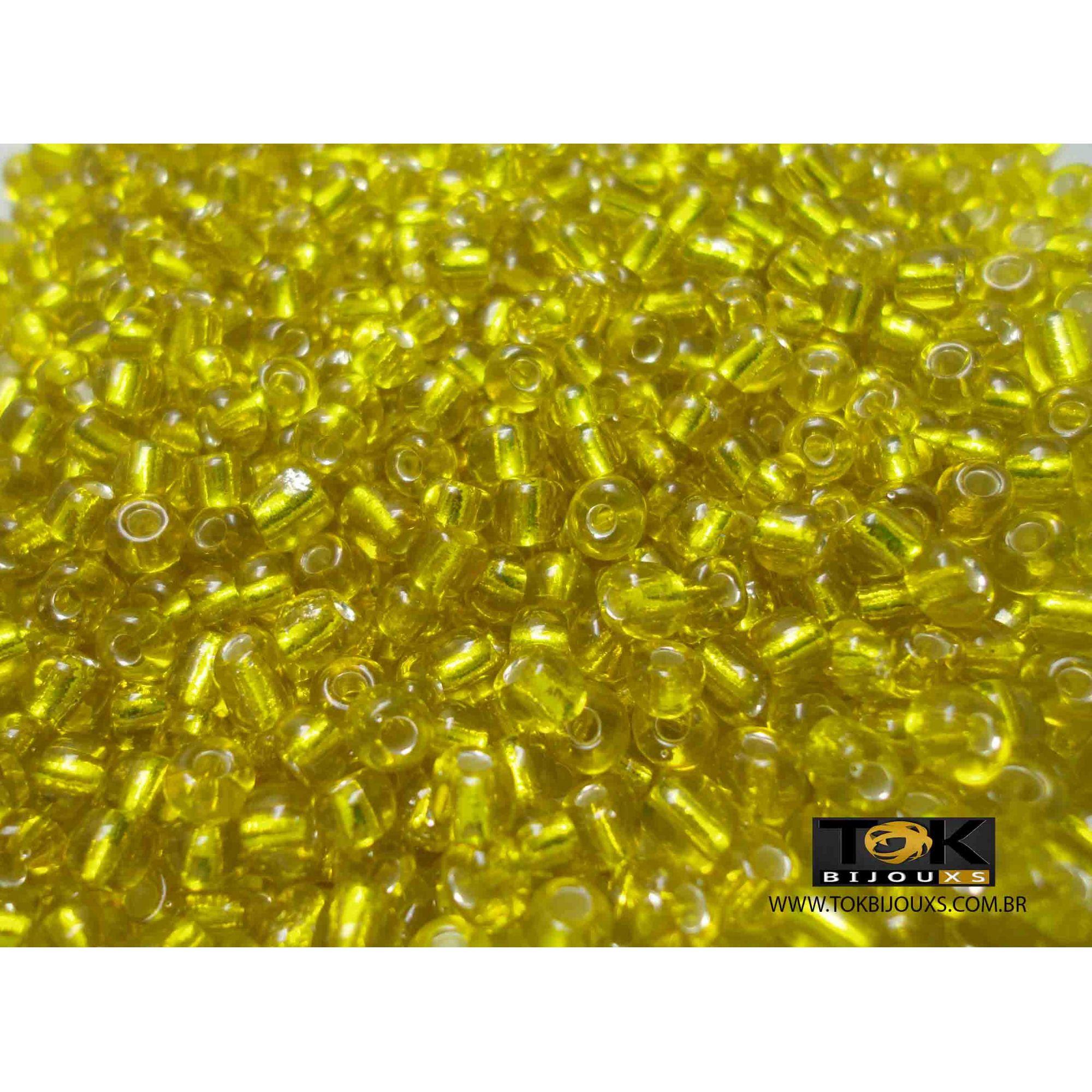 Missangão Amarelo Transparente 6/0 - 50g
