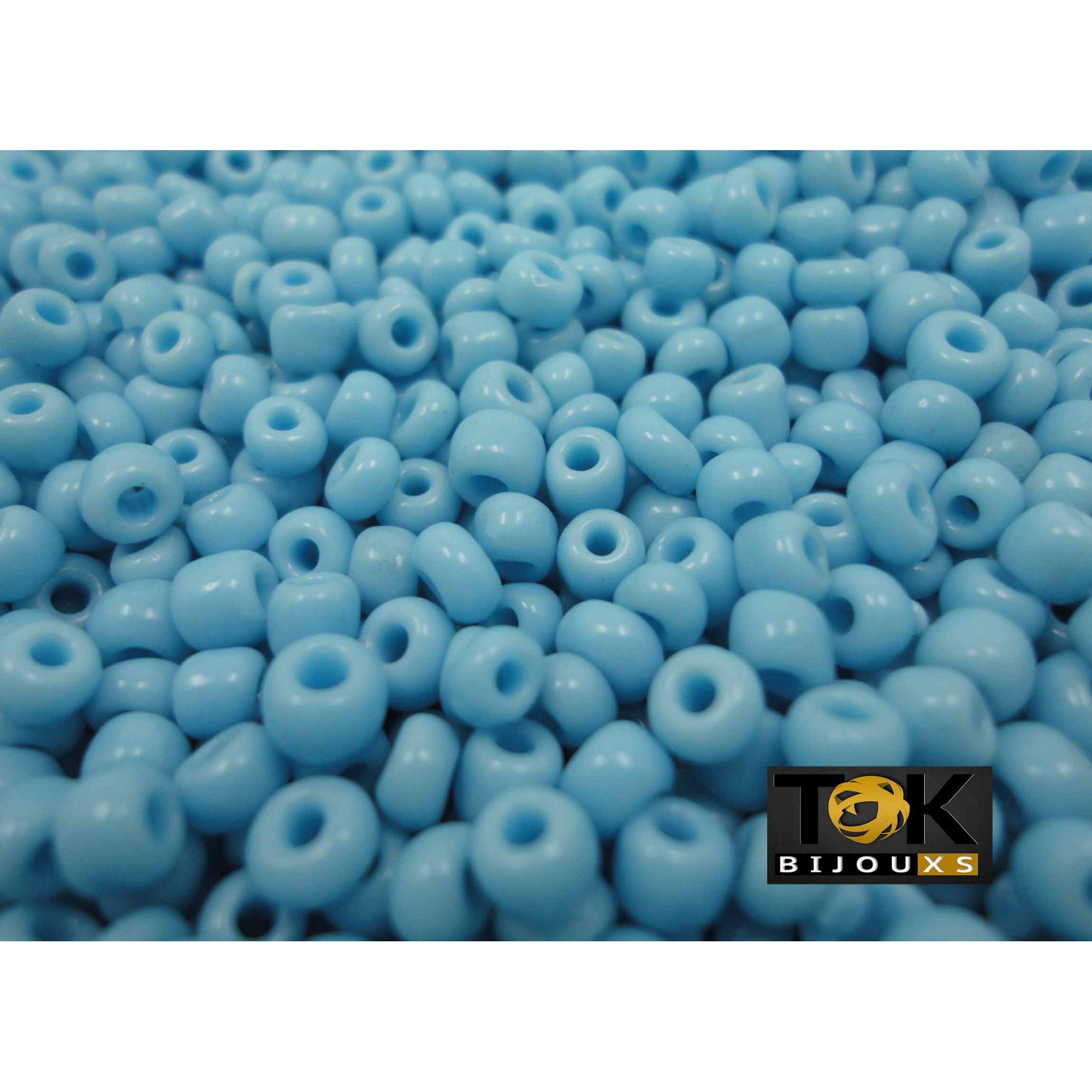 Missangão Azul Turquesa Opaco 6/0 - 50g