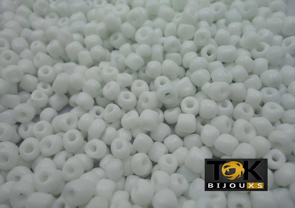 Missangão Branco Opaco 6/0 - 500g