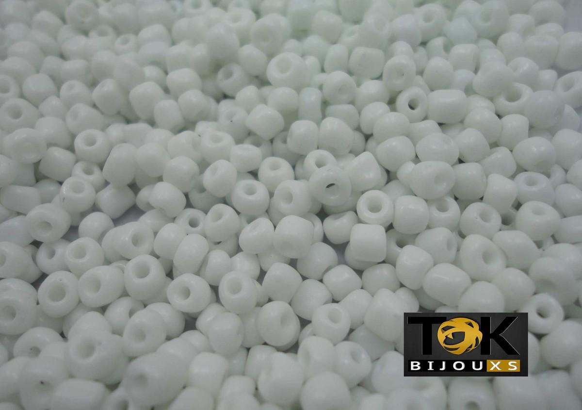 Missangão Branco Opaco 6/0 - 50g