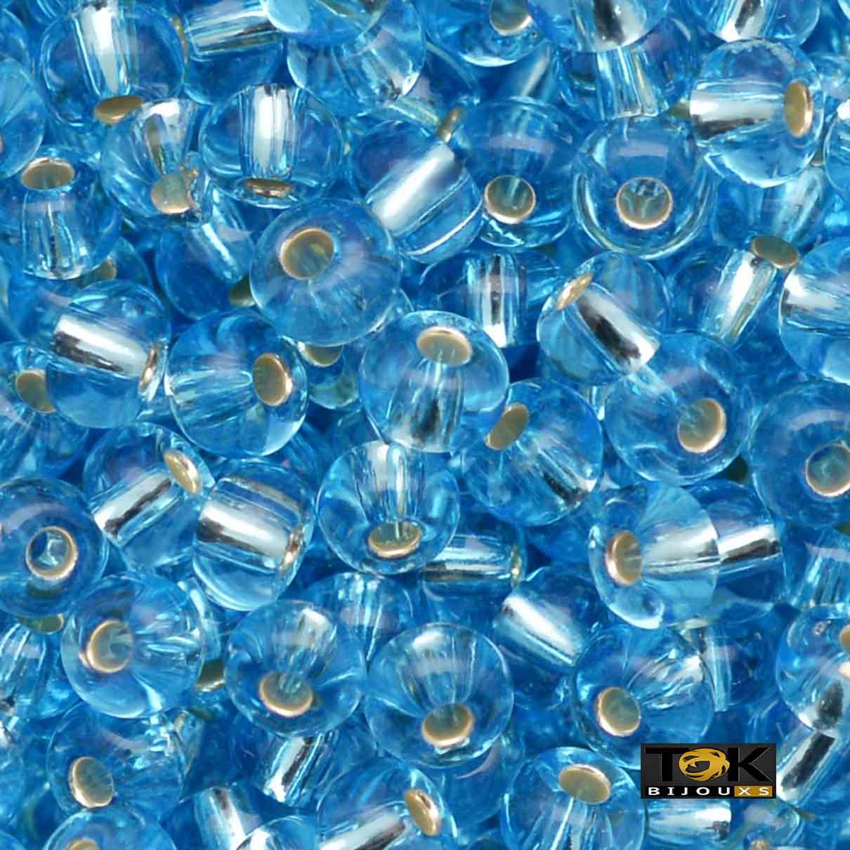 Missangão Jablonex - Azul Turquesa Transparente - 500g