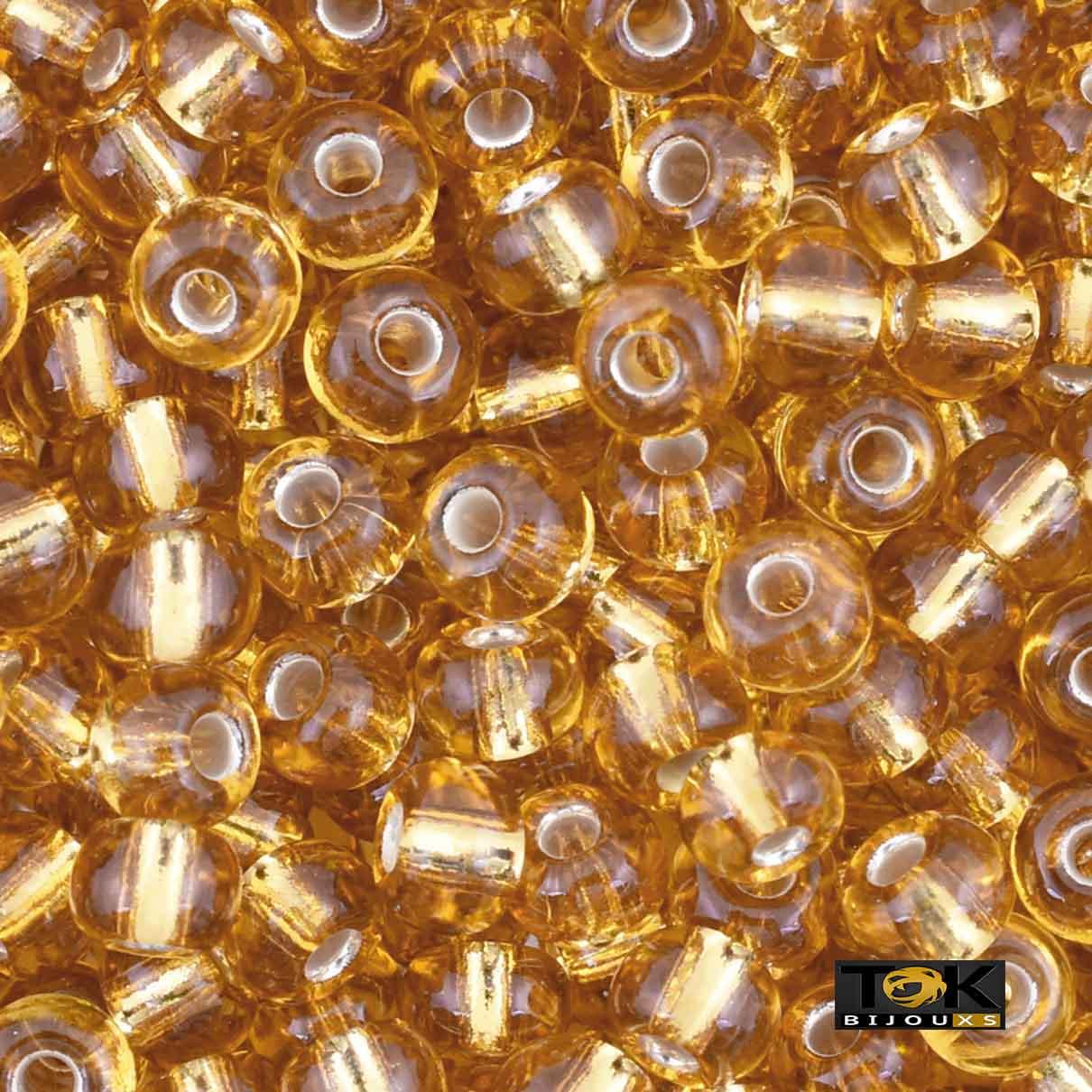 Missangão Jablonex - Dourado Transparente - 500g