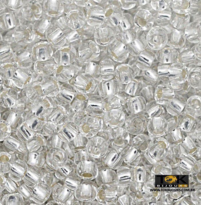 Missangão Jablonex - Prata Transparente - 25g