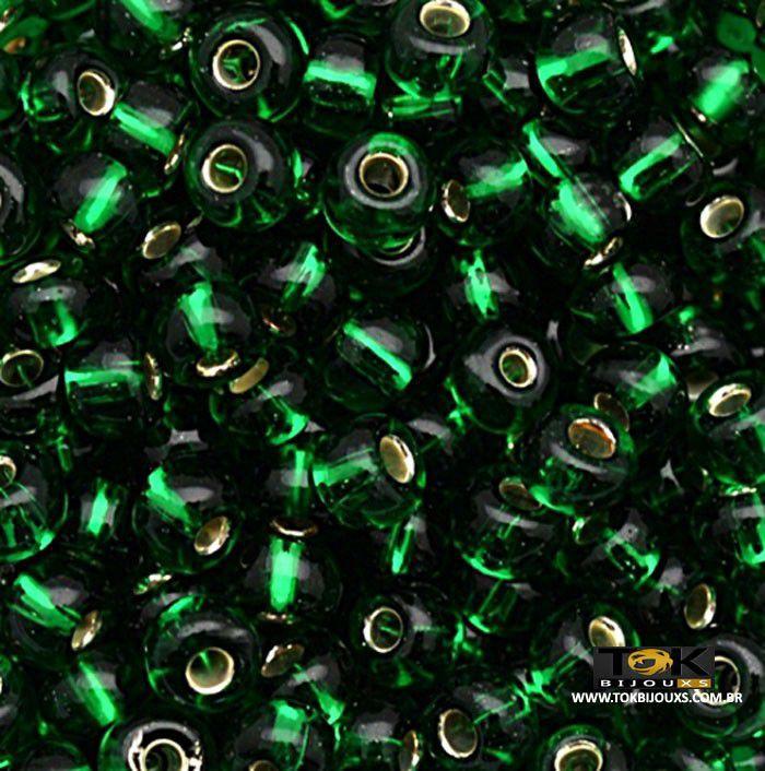 Missangão Jablonex - Verde Band Transparente - 25g