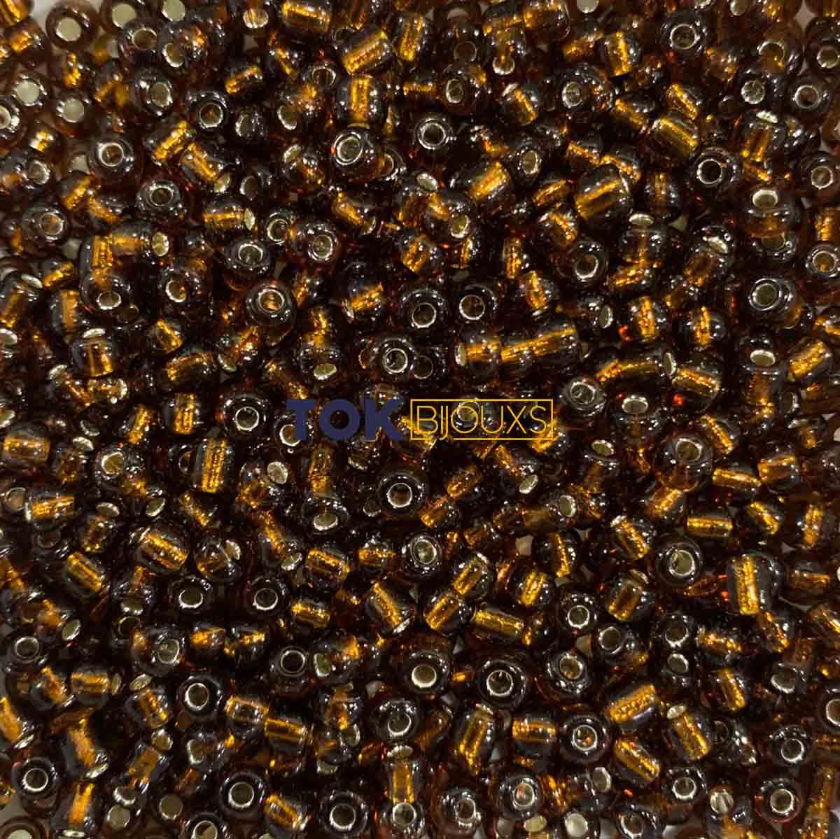 Missangão Marrom Transparente 6/0 - 500g