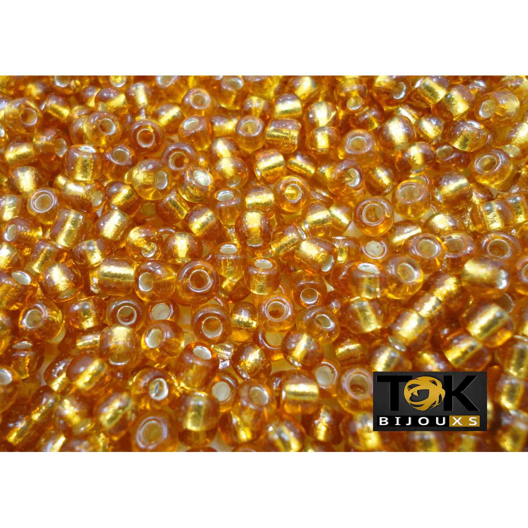 Missangão Ouro Escuro Transparente 6/0 - 50g