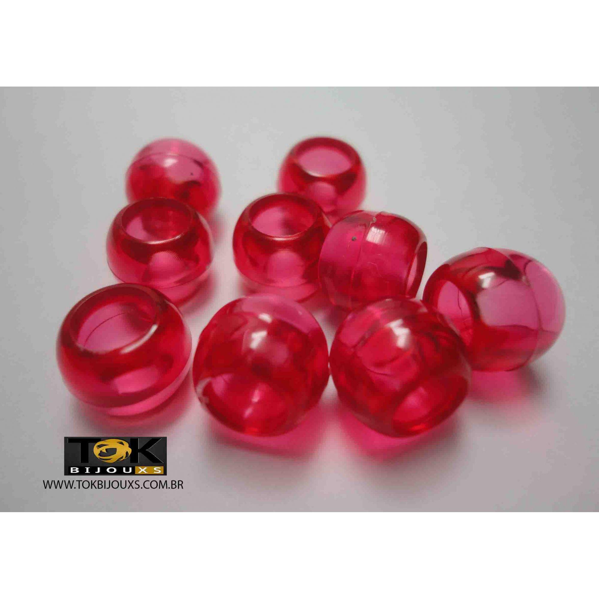 Missangão Tererê - Vermelho Transparente - 10mm - 25g