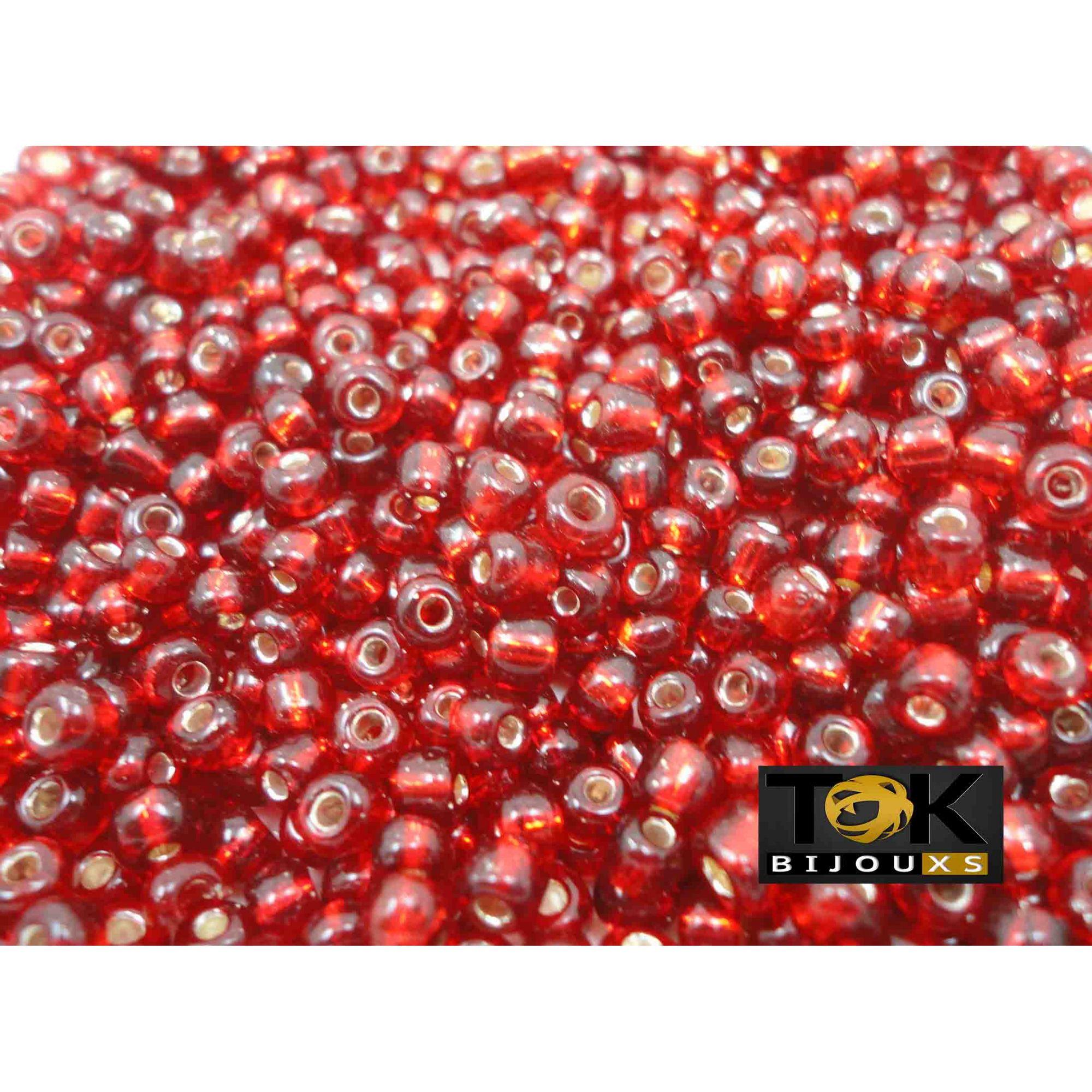 Missangão Vermelho Transparente 6/0 - 50g