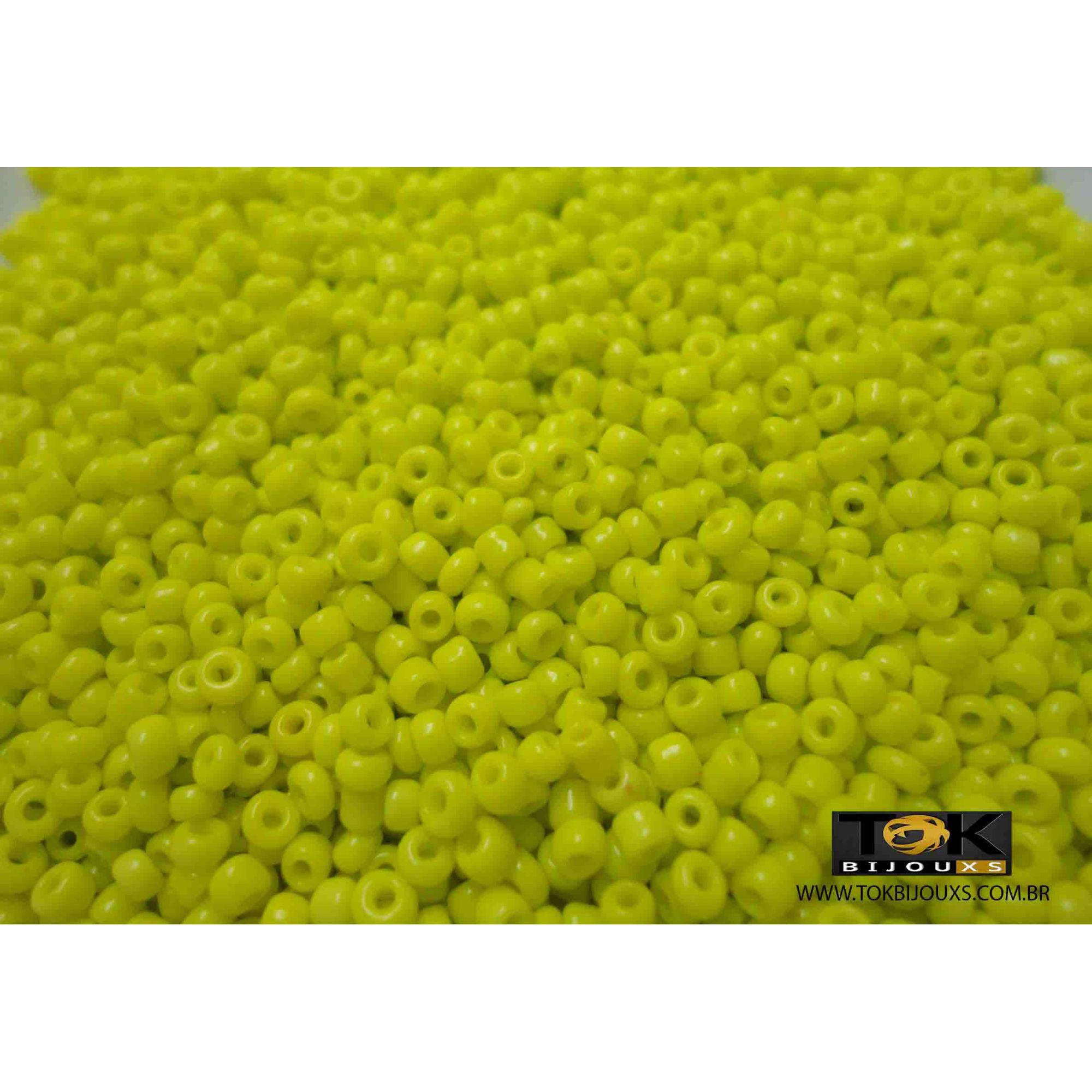 Missanguinha Amarelo Opaco 10/0 - 50g