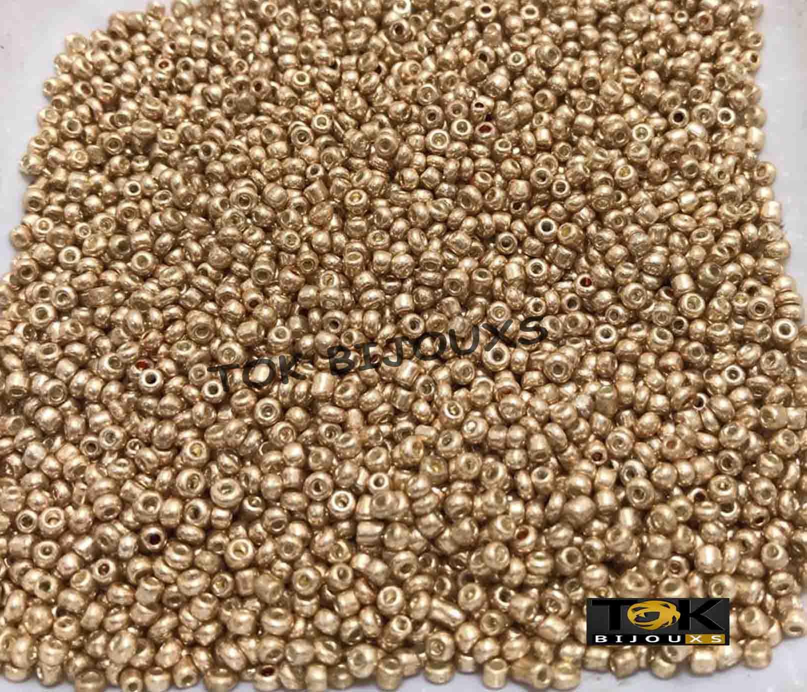 Missanguinha Dourado Metalizado 10/0 - 500g