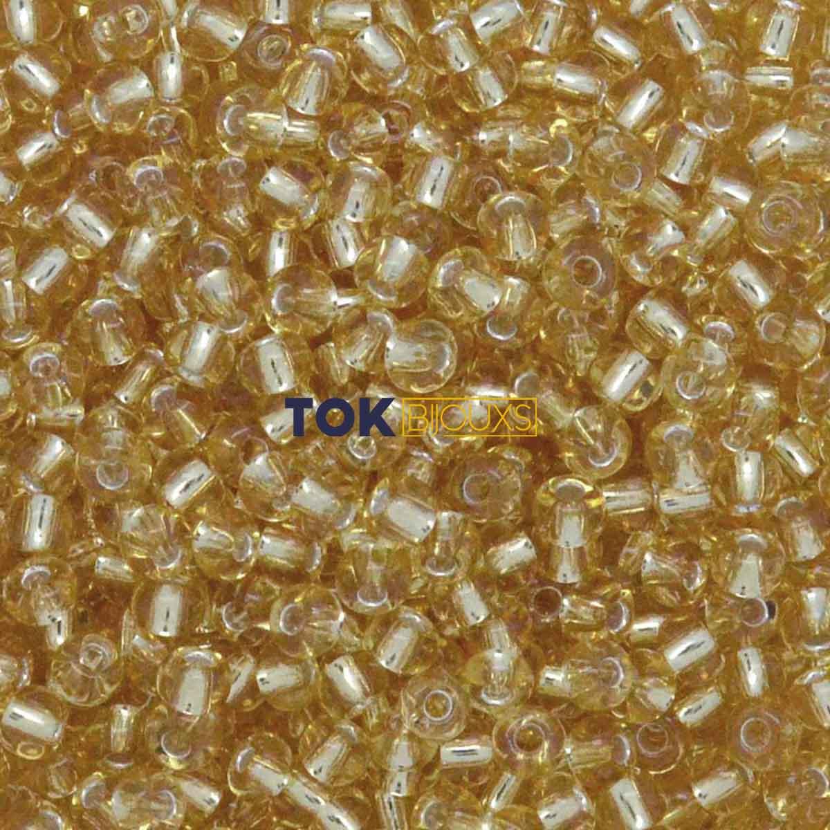 Missanguinha Jablonex - Dourado Transparente - 25g