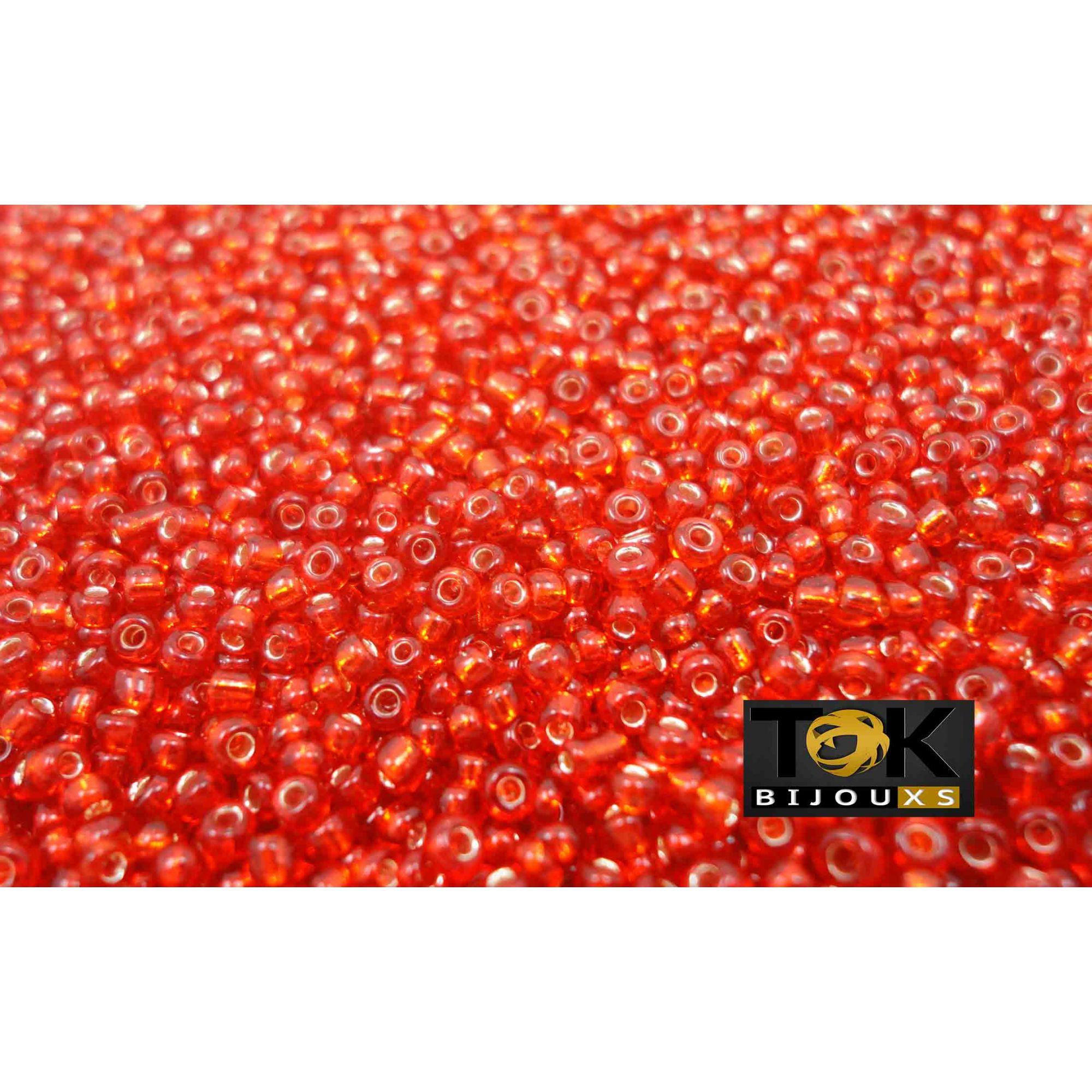 Missanguinha Vermelha Transparente 10/0 - 50g